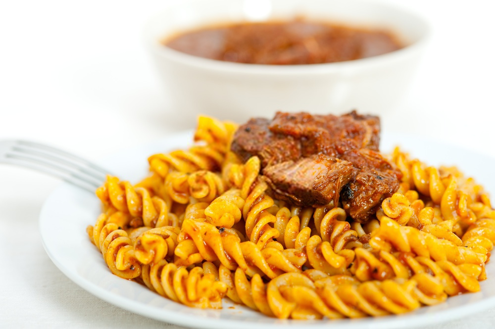 Fusilli Pasta Seasoned With Neapolitan Ragu