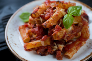 Baked Pasta With Eggplants